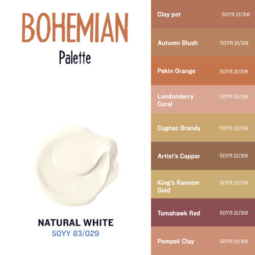 Natural White & The Bohemian Palette