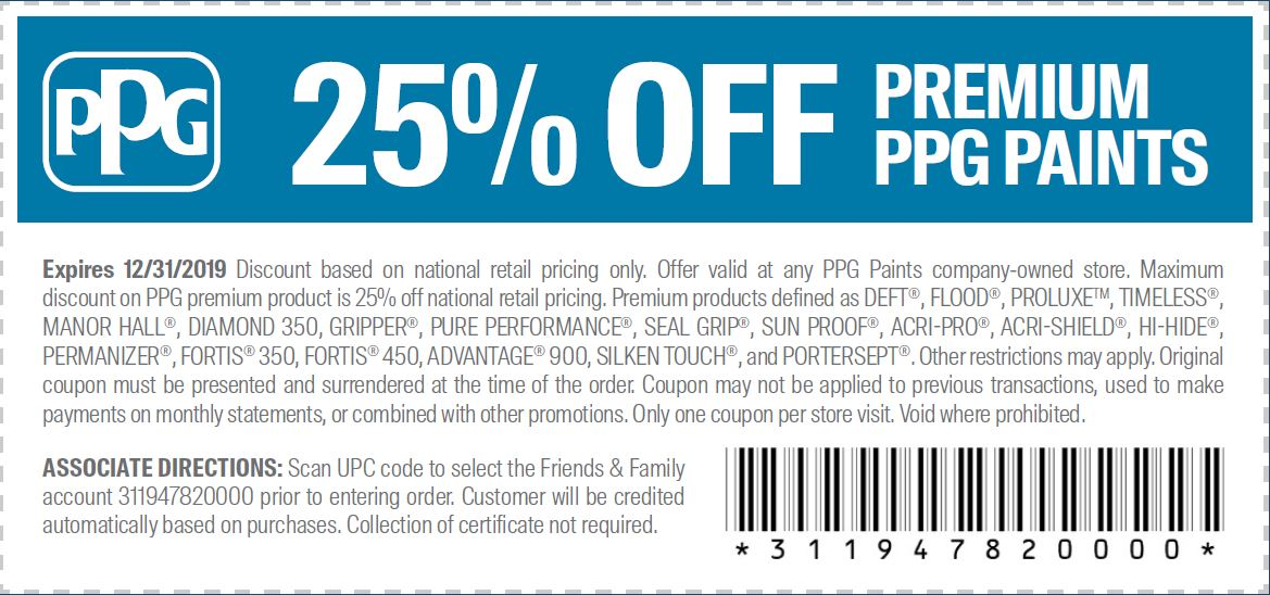 ppg paints coupons