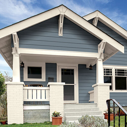Best exterior color palettes articles about painting - Best exterior paint for wood siding ...