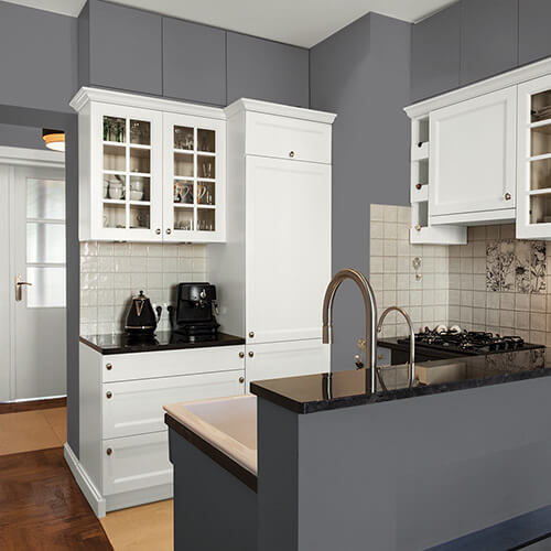 Black Kitchen Cabinets Paint Color: Interior & Exterior