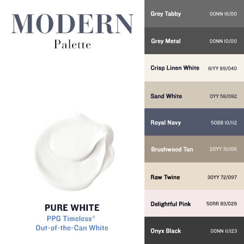 Pure White & The Modern Palette